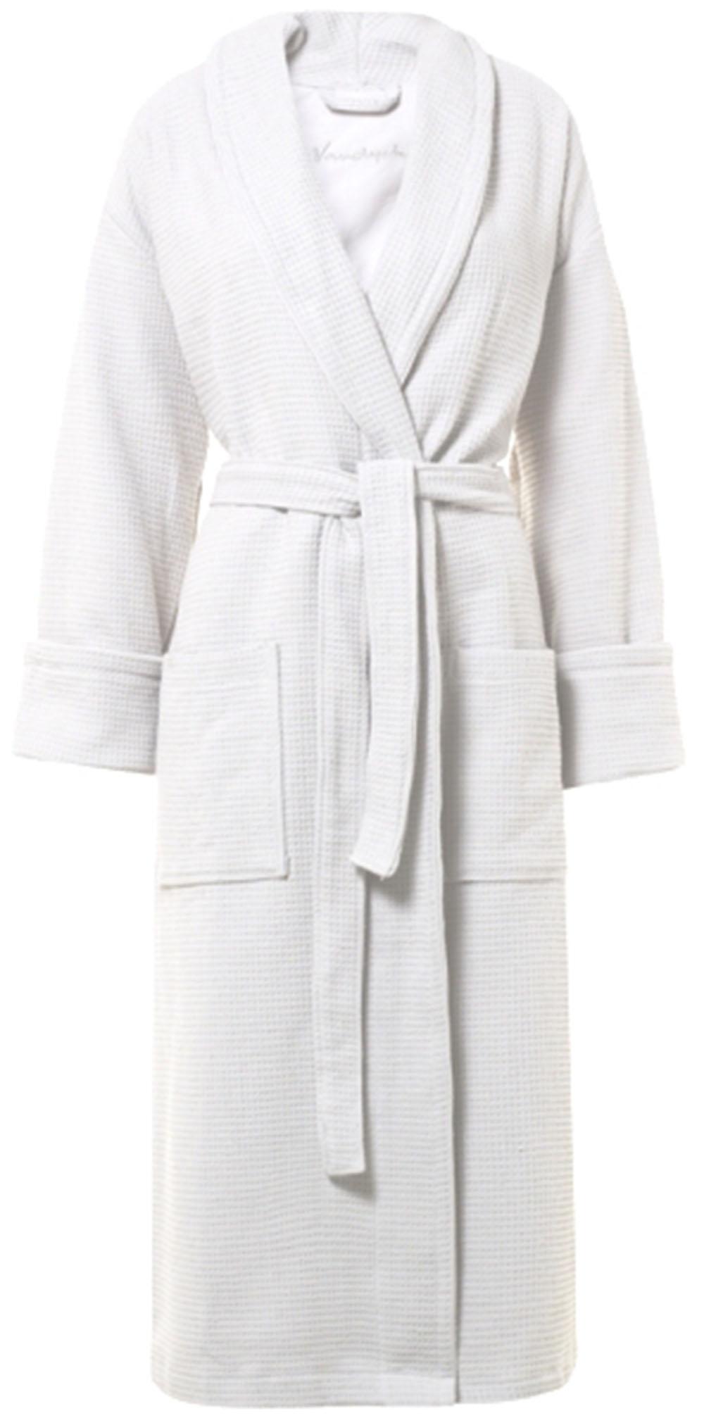 Witte badjas van wafelbadstof van Vandyck-0