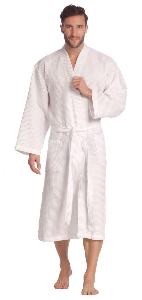 Dunne witte kimono van wafelkatoen van Vossen-1546