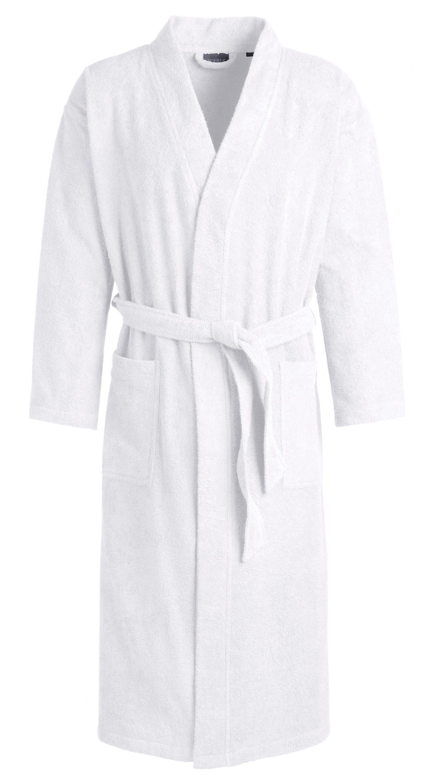Witte badstof badjas kimonomodel van Egeria-0