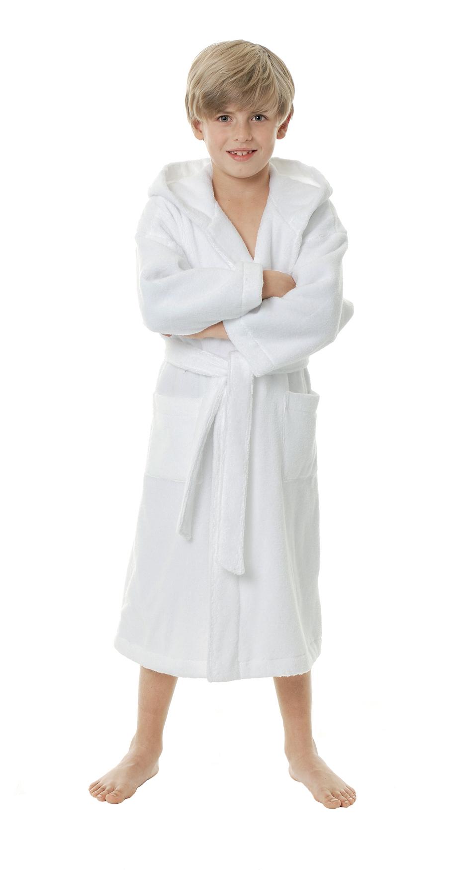 Witte Egeria badjas van zachte katoen voor tieners en dames-0