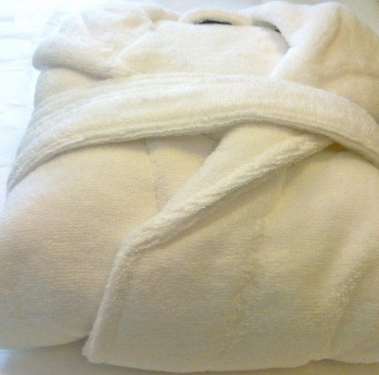 Witte Egeria badjas van zachte katoen voor tieners en dames-1596