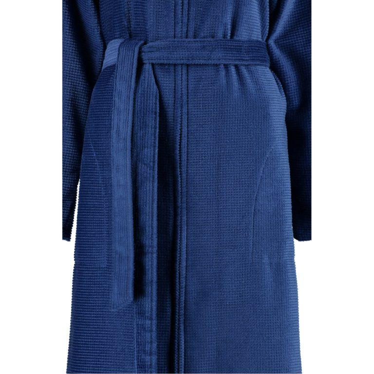 Blauwe damesbadjas met rits van Cawö-1451
