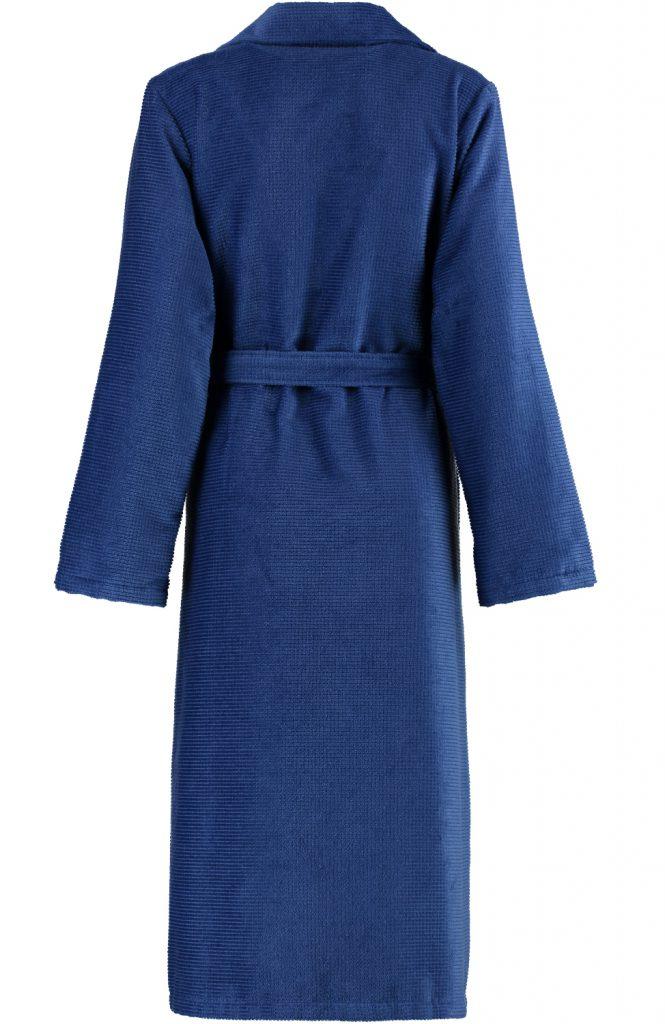 Blauwe damesbadjas met rits van Cawö-1449