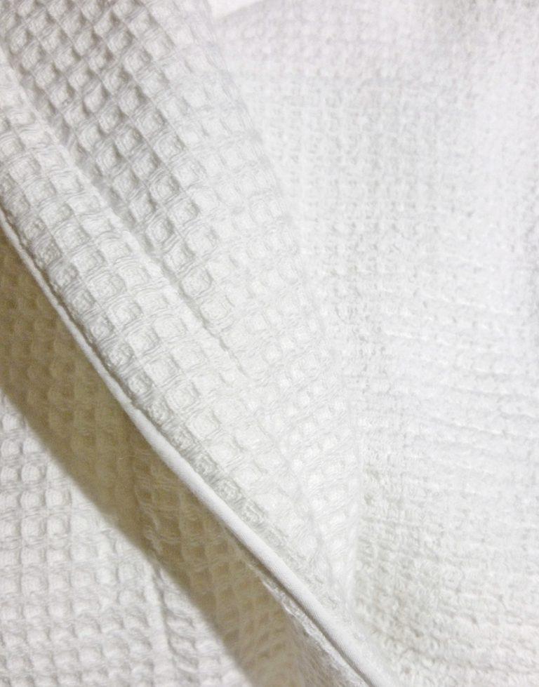 Witte badjas van wafelbadstof van Vandyck-1032
