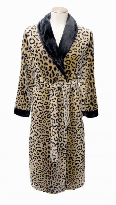 Luxe damesochtendjas met luipaardprint van Taubert-0