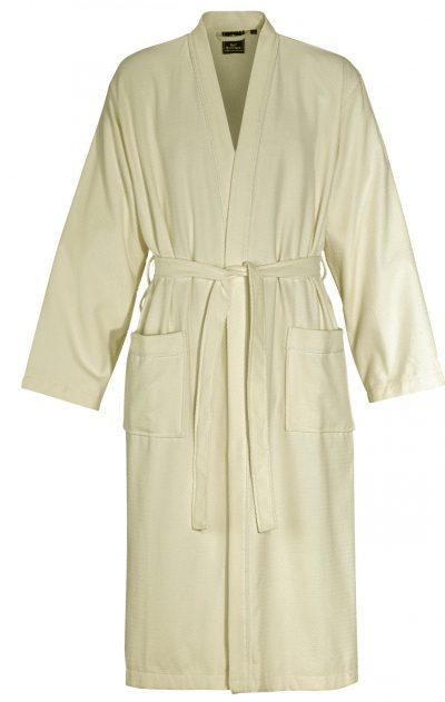 Creme met witte kimono of kamerjas van Rolf Sommare-0