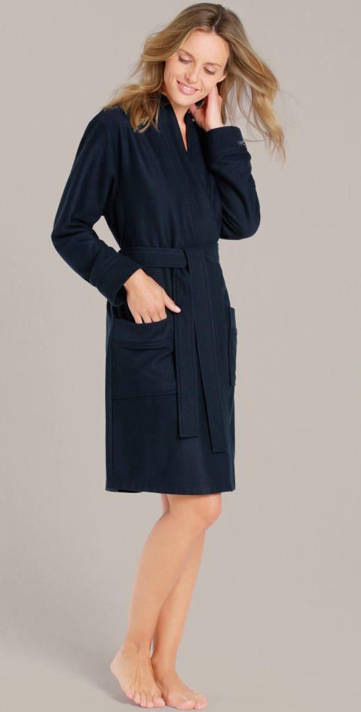 Korte badjas dames en heren donkerblauw van Taubert-1304