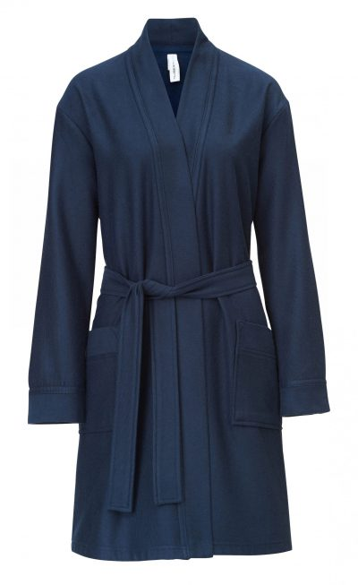 Korte badjas dames en heren donkerblauw van Taubert-0