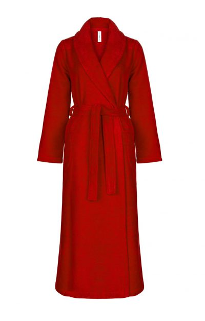 Zachte rode damesbadjas of ochtendjas van Taubert-0