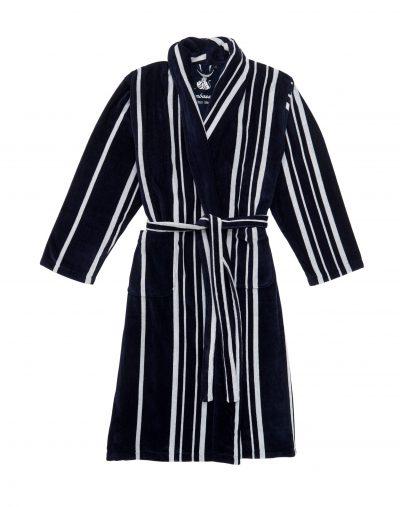 Donkerblauw gestreepte mannenbadjas van Ambassador-0