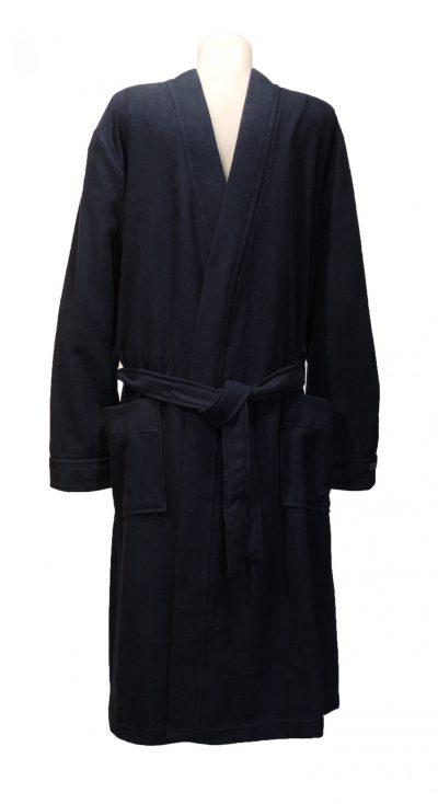 Donkerblauwe zachte kamerjas of kimono van Taubert-0