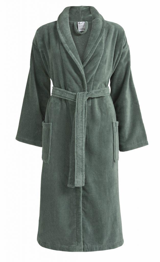 Donkergroene badjas met kraag van Vandyck-0