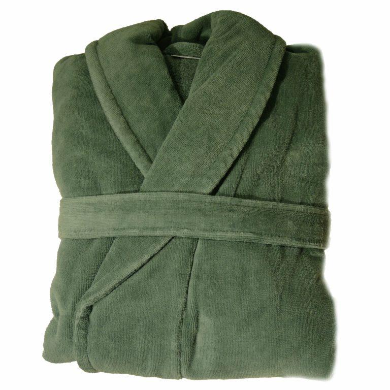 Donkergroene badjas met kraag van Vandyck-1899