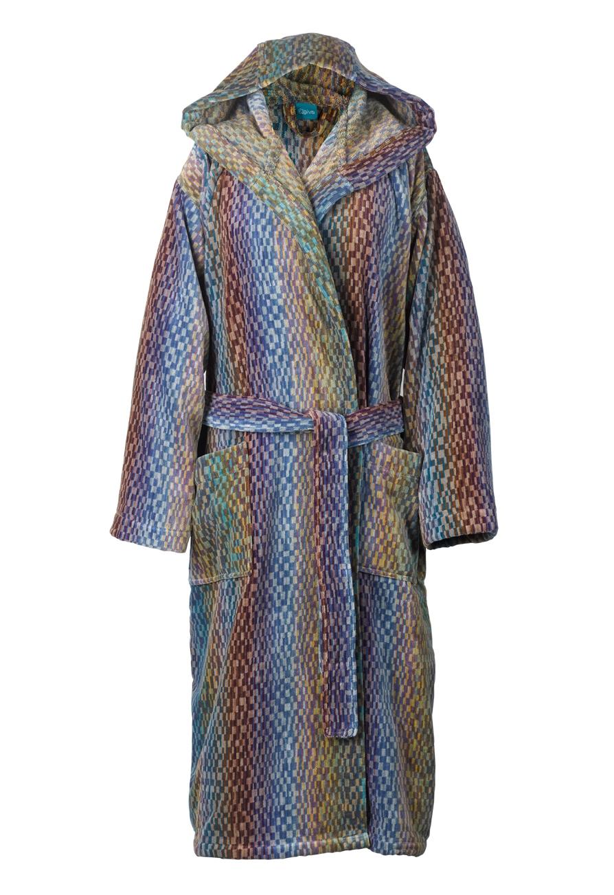 Badjas met capuchon voor dames en heren, met deco design van Elaiva-0