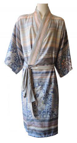 Kimono met diverse patronen in lichte tinten van Bassetti-0